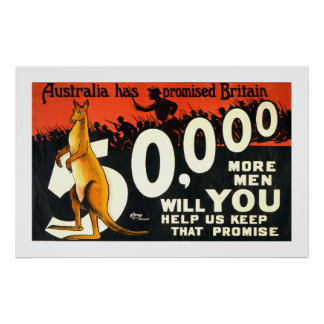 Australia Has Promised Britain (white) Poster
