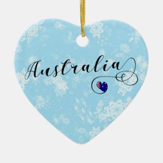 Australia Heart, Christmas Tree Ornament