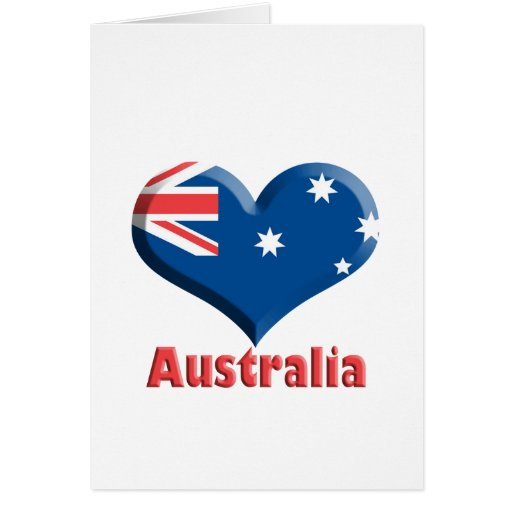 Australia Heart Notecard Stationery Note Card
