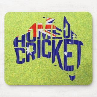 Australia Home of Cricket Calligram Mouse Mat