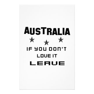 Australia If you don't love it, Leave Personalized Stationery