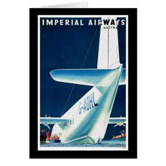 Australia Imperial Airways Greeting Card