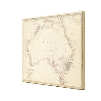 Australia in 1839 canvas print