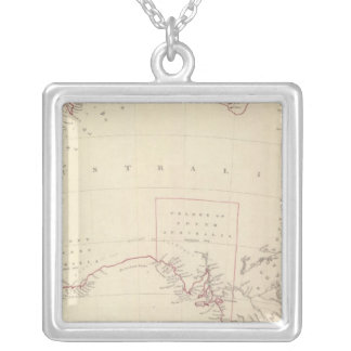 Australia in 1839 silver plated necklace