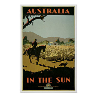 Australia In The Sun Poster