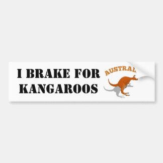 Australia, jumping Kangaroo Bumper Sticker