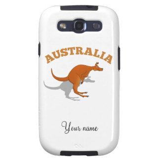 Australia, jumping Kangaroo Samsung Galaxy SIII Cases