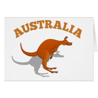 Australia, jumping Kangaroo Greeting Card