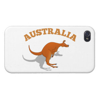 Australia, jumping Kangaroo iPhone 4/4S Covers