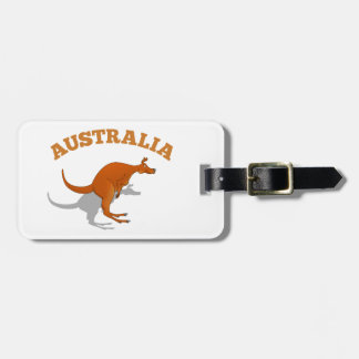 Australia, jumping Kangaroo Luggage Tag