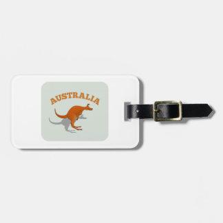 Australia, jumping Kangaroo Bag Tags