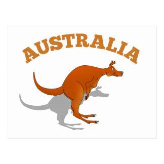 Australia, jumping Kangaroo Postcard