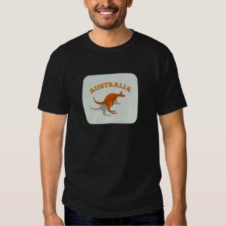 Australia, jumping Kangaroo Shirts