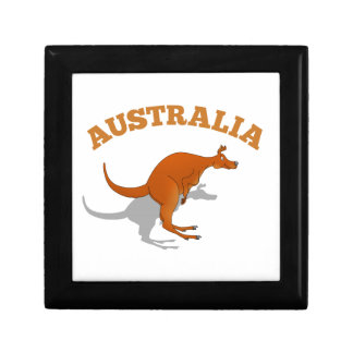Australia, jumping Kangaroo Small Square Gift Box