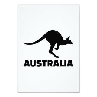 """Australia kangaroo 3.5"""" x 5"""" invitation card"""