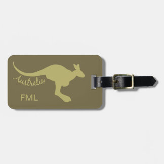 Australia Kangaroo custom luggage tag