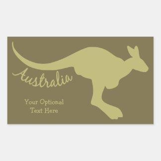 Australia Kangaroo custom stickers