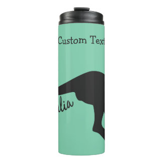Australia Kangaroo custom text & color tumbler