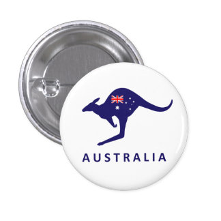 AUSTRALIA KANGAROO FLAG 3 CM ROUND BADGE