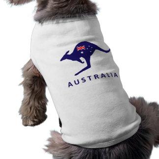 AUSTRALIA KANGAROO FLAG SLEEVELESS DOG SHIRT