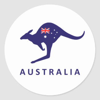 AUSTRALIA KANGAROO FLAG STICKERS