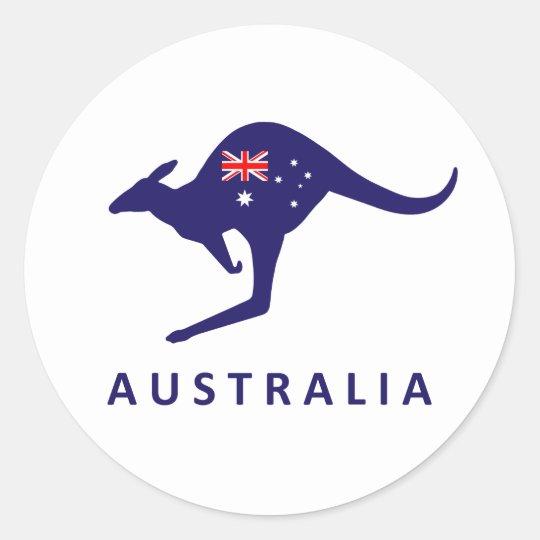 AUSTRALIA KANGAROO FLAG STICKERS