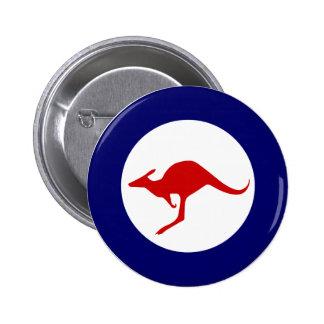 Australia kangaroo military aviation roundel 6 cm round badge