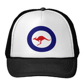 Australia kangaroo military aviation roundel cap