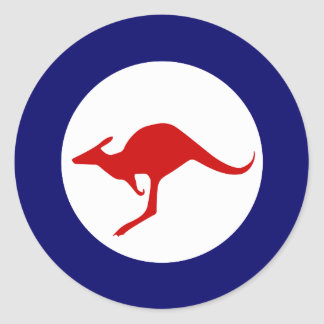 Australia kangaroo military aviation roundel classic round sticker