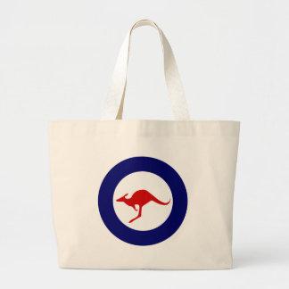 Australia kangaroo military aviation roundel large tote bag