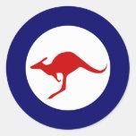 Australia kangaroo military aviation roundel round sticker