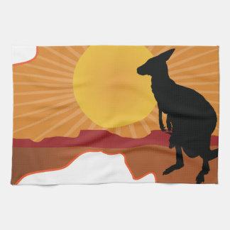 Australia Kangaroo Tea Towel