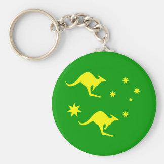 Australia Key Ring Basic Round Button Key Ring