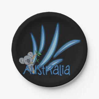 Australia Koala 7 Inch Paper Plate
