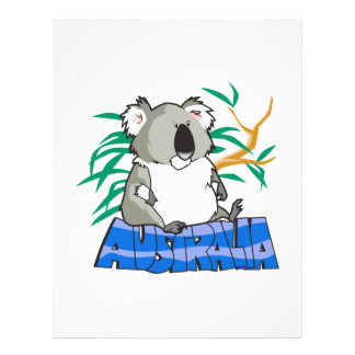 Australia koala bear design custom flyer