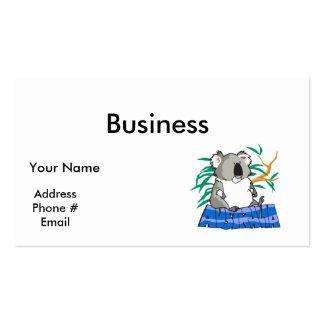 Australia koala bear design pack of standard business cards