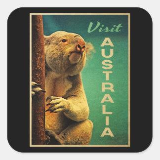 Australia Koala Square Sticker