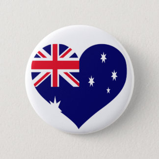 Australia Love 6 Cm Round Badge