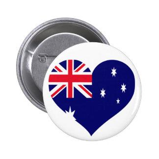 Australia Love 6 Cm Round Badge