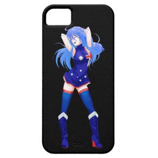 Australia Manga Flag girl Barely There iPhone 5 Case