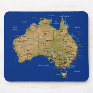 Australia Map Mousepad