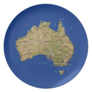 Australia Map Plate