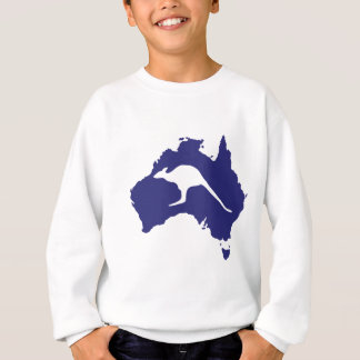 Australia Map With Kangaroo Silhouette Sweatshirt