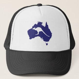 Australia Map With Kangaroo Silhouette Trucker Hat