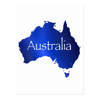 Australia Map With White Background Postcard