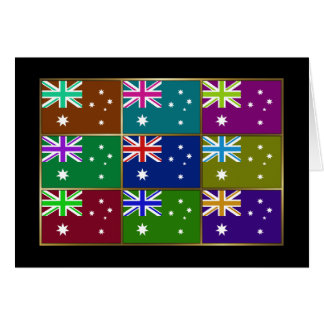 Australia Multihue Flags Greeting Card