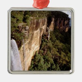 Australia, New South Wales, Fitzroy Falls. Silver-Colored Square Decoration