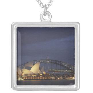 Australia, New South Wales, Sydney, Sydney Opera 3 Silver Plated Necklace