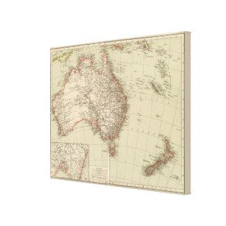Australia, New Zealand Canvas Print