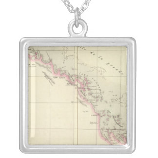 Australia Oceania no 45 Silver Plated Necklace